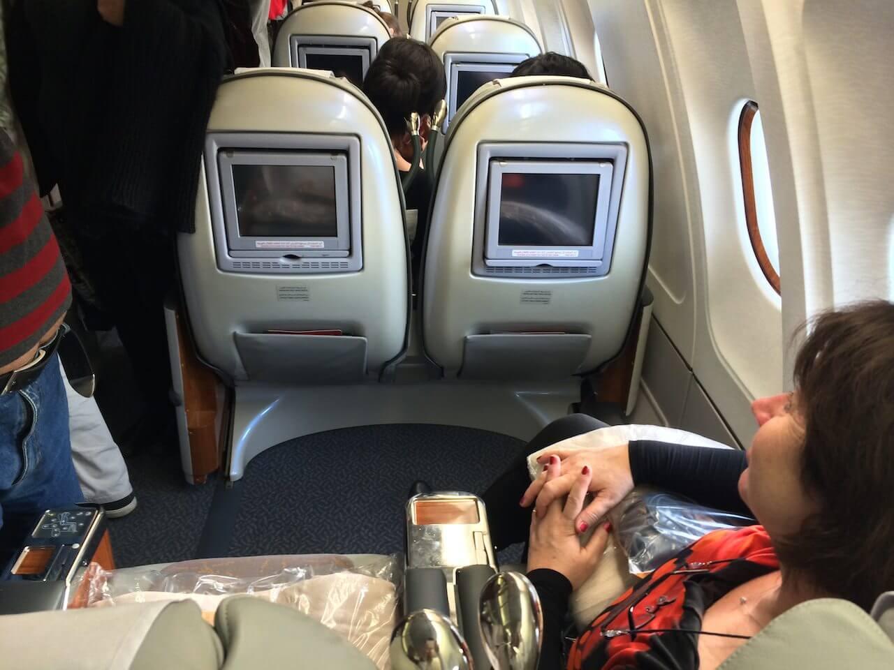 Jeszcze jedna fotka pokazująca ile miejsca ma pasażer w tej klasie.
