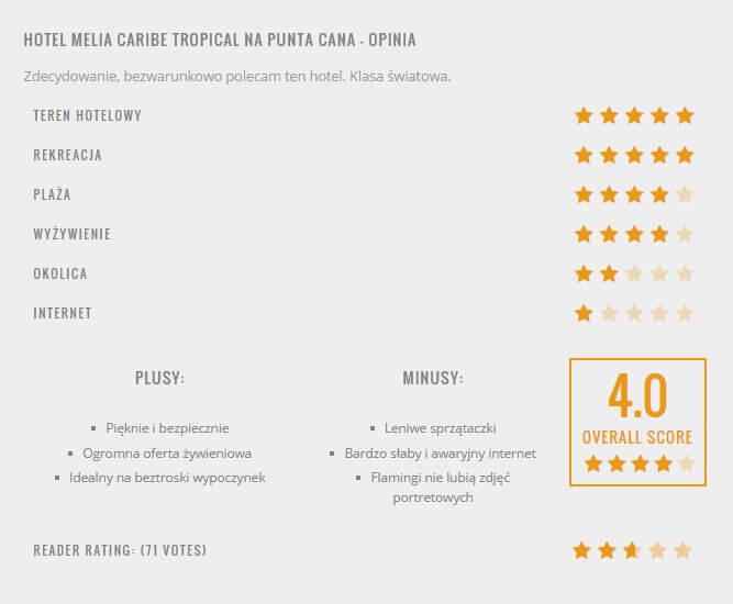 hotel melia caribe tropical recenzja