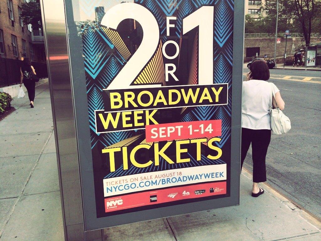 Ta reklama przekonała mnie, aby w końcu wybrać się na Broadway.