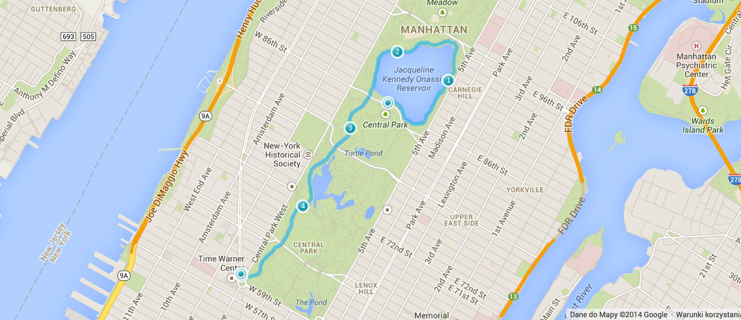 Dla porównania – mój pierwszy bieg w NYC, o którym pisałem wam 3 tygodnie temu. Central Park, 5 kilometrów. Byłem po nim wykończony i zniechęcony.