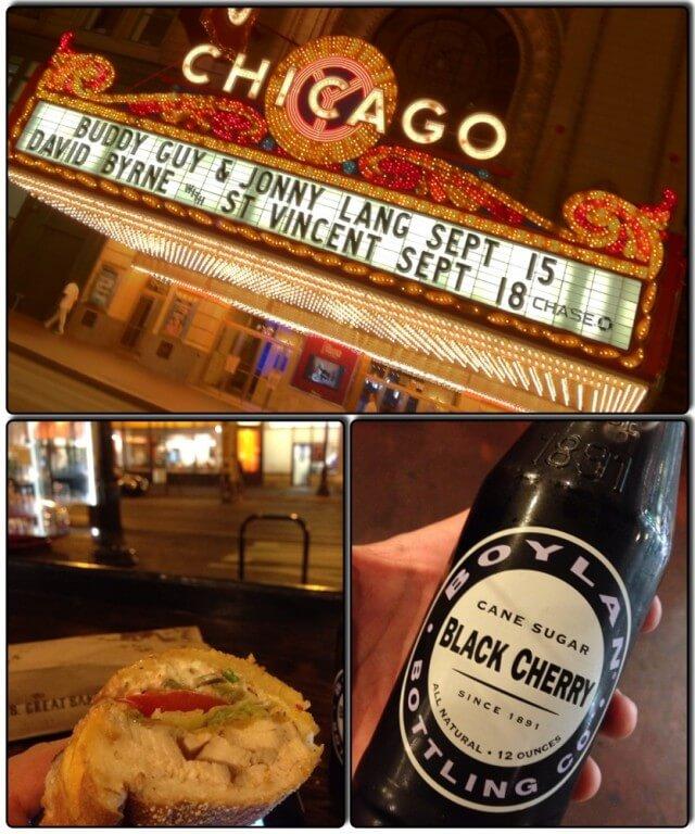 Chicago nocą w obiektywie iPhone, bo aparat mi się rozładował. Zapamiętajcie Black Cherry. Jeśli zobaczycie, kupcie. Jeśli kupicie, wypijcie. Jeśli znajdziecie w Polsce – kupcie mi.