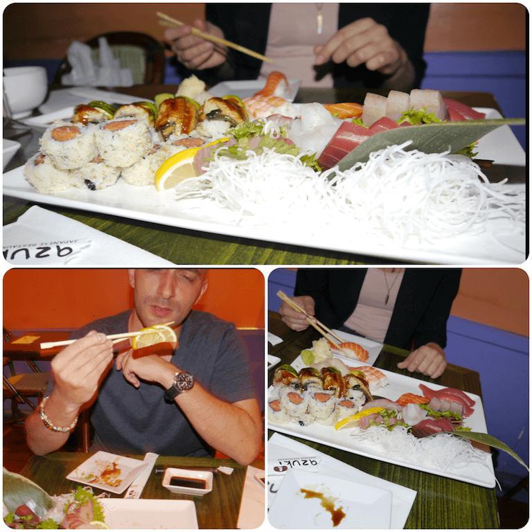 Nowojorskie sushi dla spragnionych i wycieńczonych zakupami.