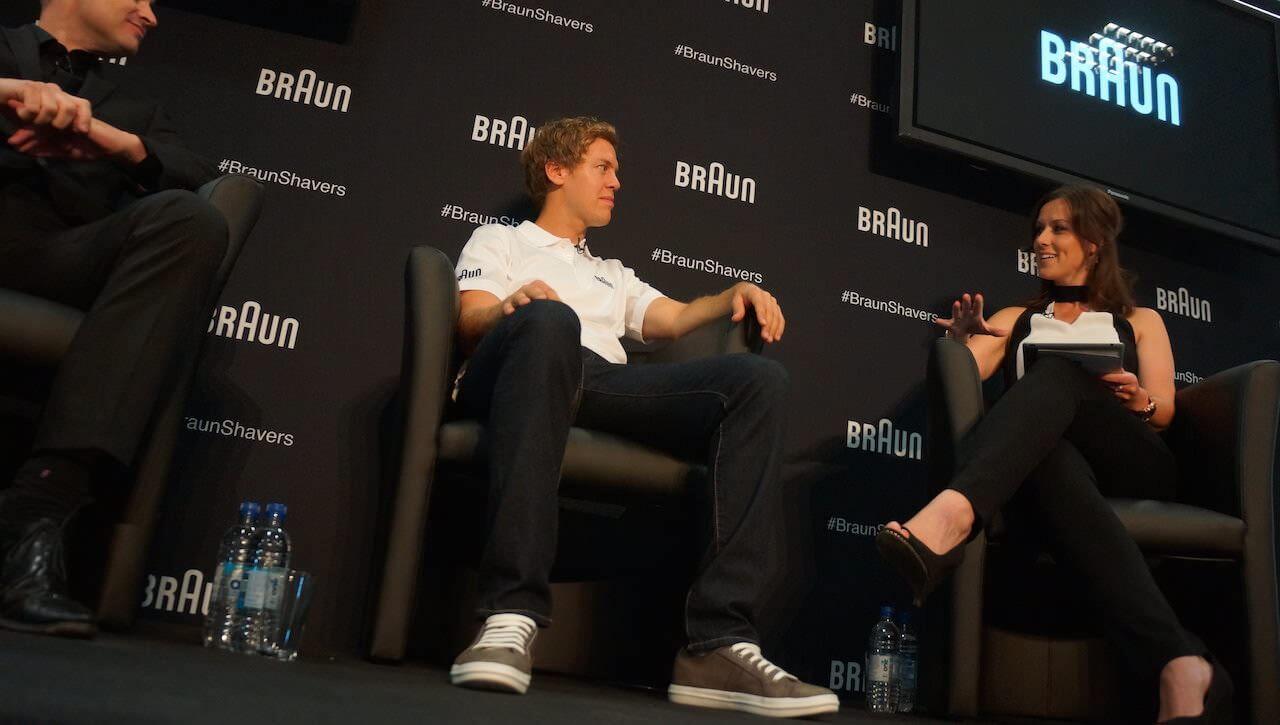 …pogadałem z ambasadorem marki Sebastianem Vettelem