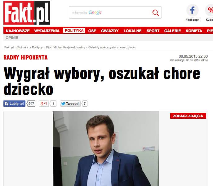 Piotr Michał Krajewski radny z Ostródy wykorzystał chore dziecko 2015-05-10 09-54-58