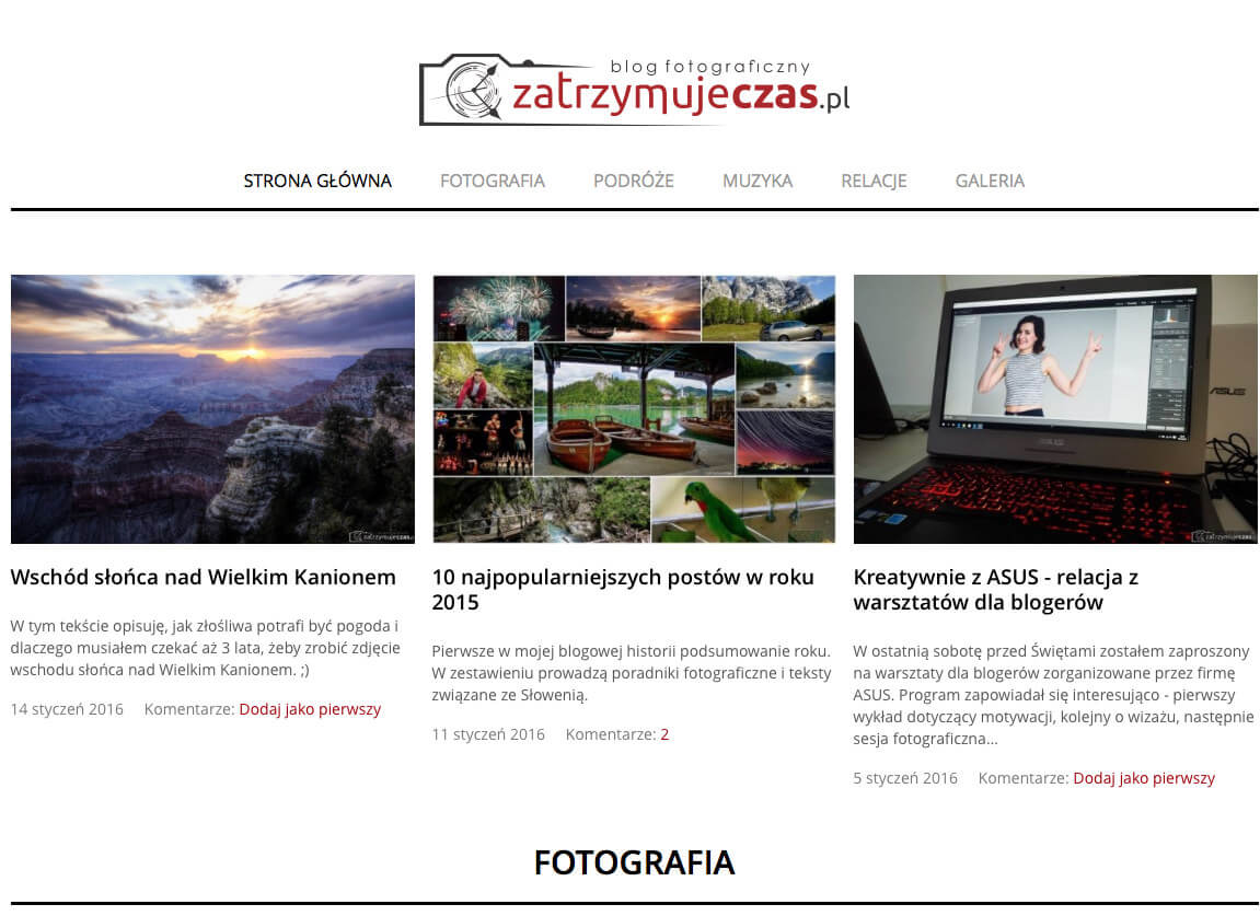 ZatrzymujeCzas.pl - blog fotograficzny - Strona główna 2016-01-18 13-35-58